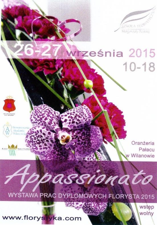 """Wystawia Kwiatowa """"Wilanowskie Barwy Lata"""" 26-27 września 2015"""